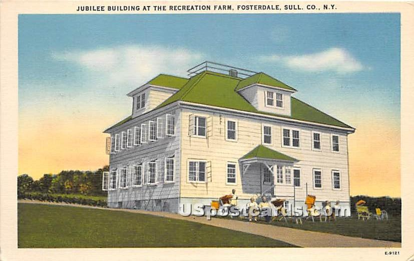 Jubilee Building - Fosterdale, New York NY Postcard