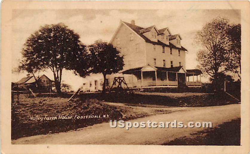 Valley Farm House - Fosterdale, New York NY Postcard