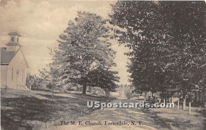 The M E Church - Fosterdale, New York NY Postcard