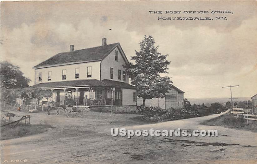 Post Office Store - Fosterdale, New York NY Postcard