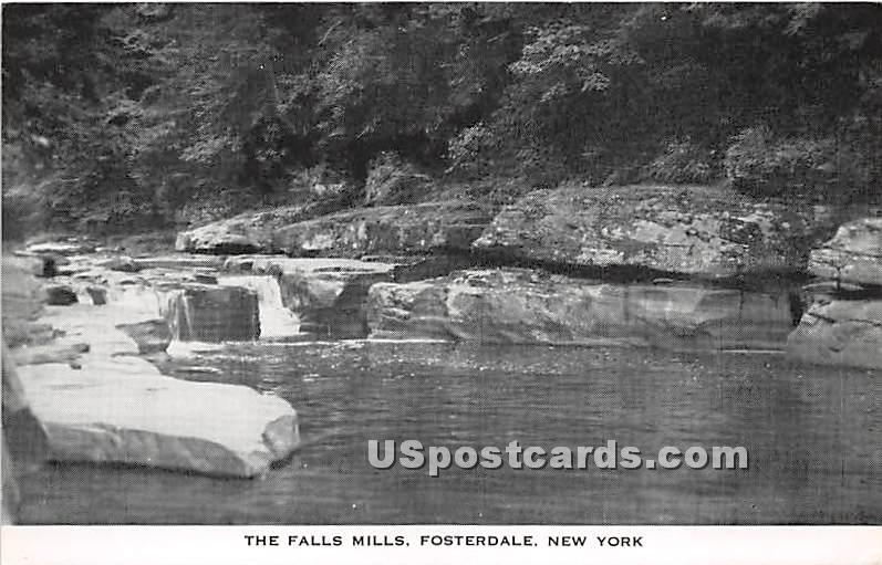 The Falls Mills - Fosterdale, New York NY Postcard