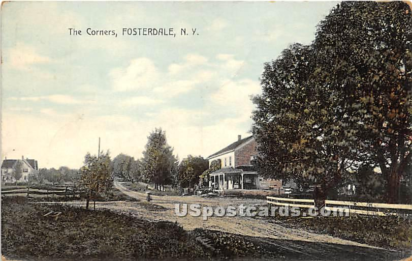 The Corners - Fosterdale, New York NY Postcard