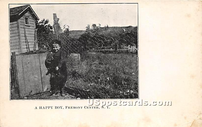 A Happy Boy - Fremont Center, New York NY Postcard