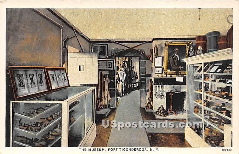 The Museum - Fort Ticonderoga, New York NY Postcard