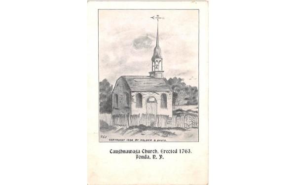 Caughnawaga Church Fonda, New York Postcard