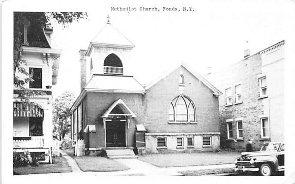 Methodist Church Fonda, New York Postcard