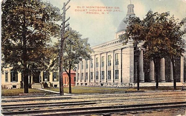 Old Montgomery Co Fonda, New York Postcard