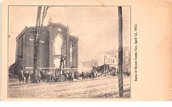 Ruins of Recent Fonda New York Postcard