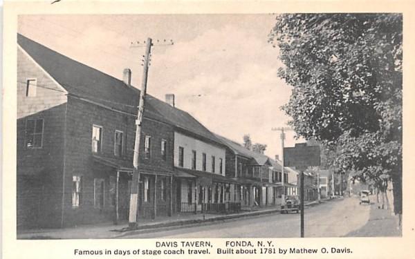 Davis Tavern Fonda, New York Postcard
