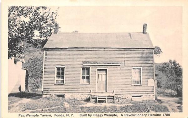 Peg Wemple Tavern Fonda, New York Postcard