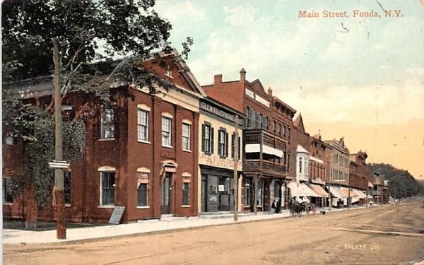 Main Street Fonda, New York Postcard