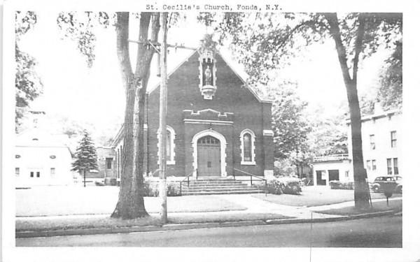 St Cecilias Church Fonda, New York Postcard