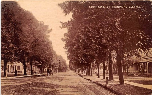 South Main Street Franklinville, New York Postcard
