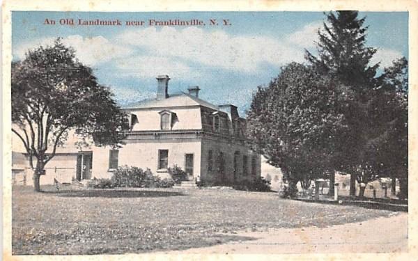 Old Landmark Franklinville, New York Postcard