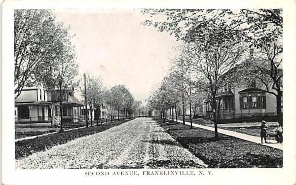 Second Avenue Franklinville, New York Postcard