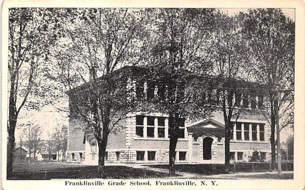 Franklinville Grade School New York Postcard