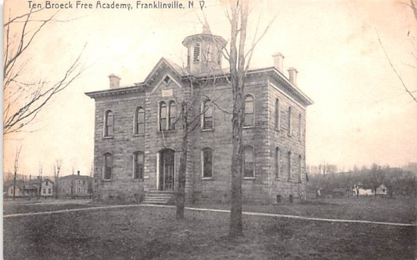Ten Broeck Free Academy Franklinville, New York Postcard