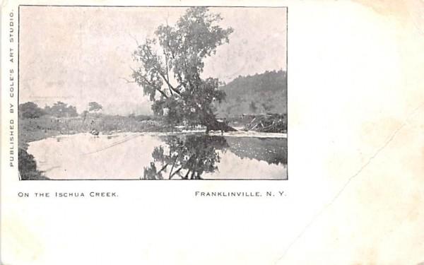 Ischua Creek Franklinville, New York Postcard