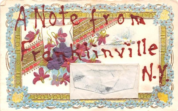 Note From Franklinville, New York Postcard