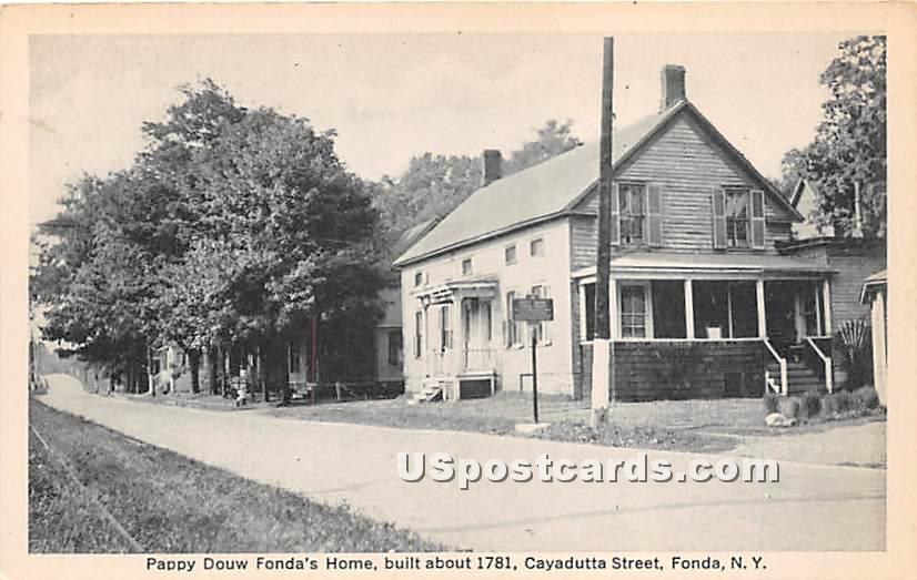 Pappy Douw Fonda's Home 1781 - New York NY Postcard