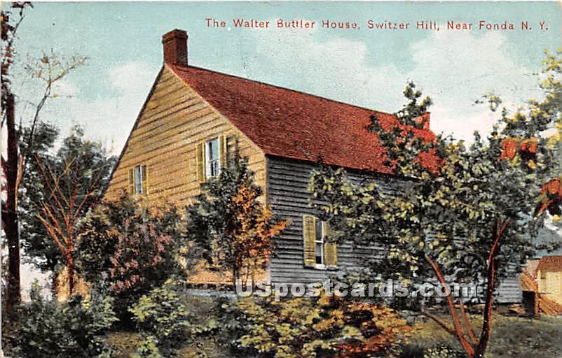 Walter Buttler House - Fonda, New York NY Postcard