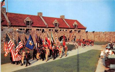 Built in 1755 by the French as Ft Carillon Fort Ticonderoga, New York Postcard
