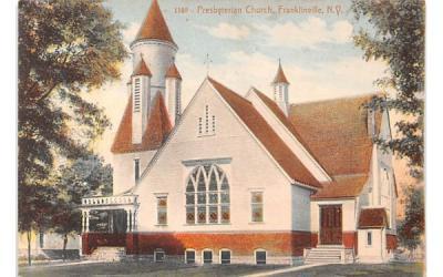 Presbyterian Church Franklinville, New York Postcard