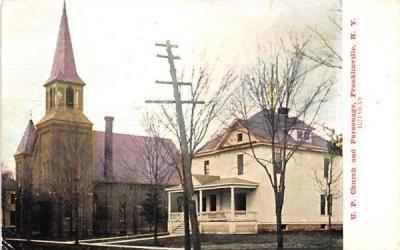 UP Church & Parsonage Franklinville, New York Postcard