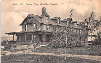 Boys' Hotel George Junior Republic Freeville, New York Postcard