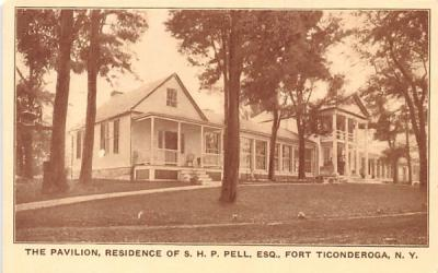 The Pavilion Fort Ticonderoga, New York Postcard