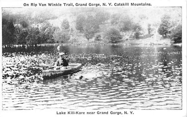 Lake Kill Kare Grand Gorge, New York Postcard
