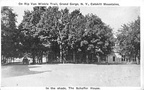 Shade, Schaffer House Grand Gorge, New York Postcard