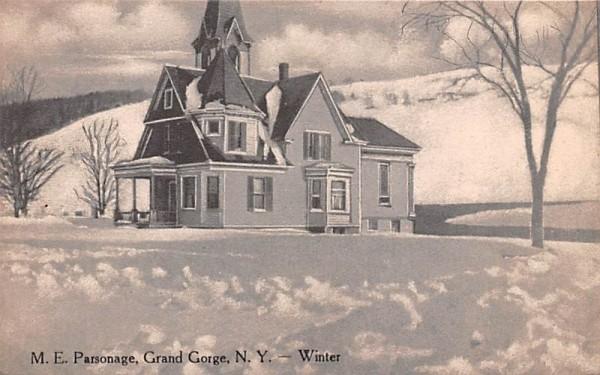 ME Parsonage Grand Gorge, New York Postcard