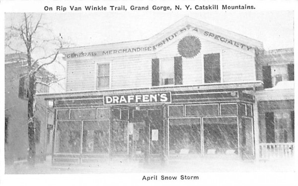 April Snow Storm Grand Gorge, New York Postcard