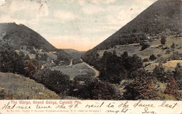 The Gorge Grand Gorge, New York Postcard