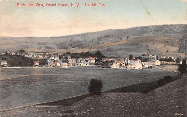 Bird's Eye View Grand Gorge, New York Postcard