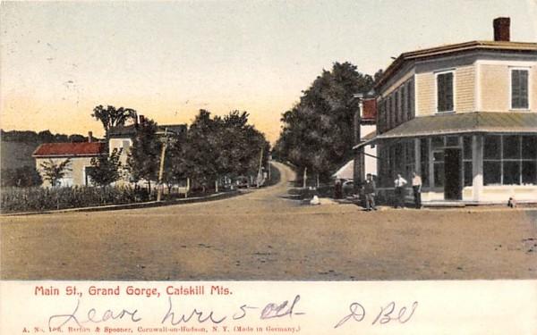 Main Street Grand Gorge, New York Postcard