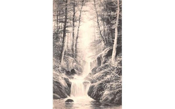 Waterfall Grand Gorge, New York Postcard
