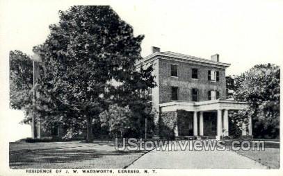 Residence of J.W. Wadsworth - Geneseo, New York NY Postcard