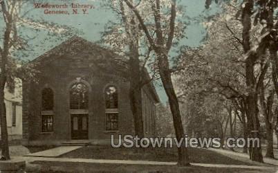 Wasdsworth Library - Geneseo, New York NY Postcard