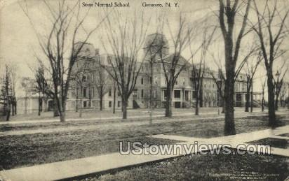 State Normal School - Geneseo, New York NY Postcard