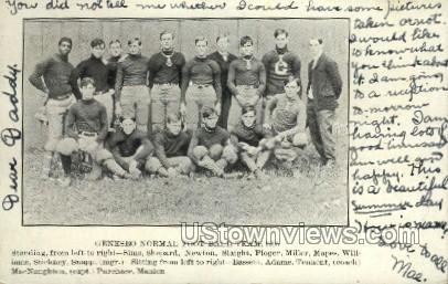 Normal Football Team - Geneseo, New York NY Postcard