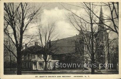 St. Mary's Church - Geneseo, New York NY Postcard