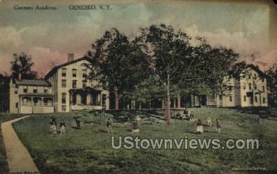 Genesco Academy - Geneseo, New York NY Postcard