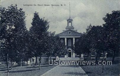 Livingston Co - Geneseo, New York NY Postcard