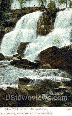 Glen Wild Falls - New York NY Postcard
