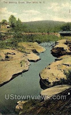 Babbling Brook - Glen Wild, New York NY Postcard