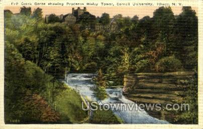 Creek Gorge - Ithaca, New York NY Postcard