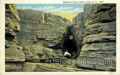 Cooper's Cave - Glen Falls, New York NY Postcard