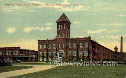 Imperial Wall Paper Factory - Glen Falls, New York NY Postcard